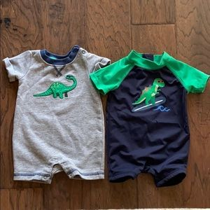 0-3 month Dinosaur baby outfit and swimsuit
